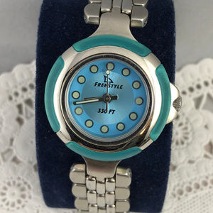 Vintage Freestyle  WR1 Butterfly Blue Ladies Watch